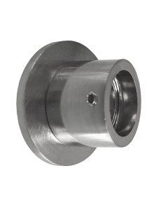 Wandlager Wandhalterung Edelstahl-Optik für 20 mm Gardinenstangen 2 Stück