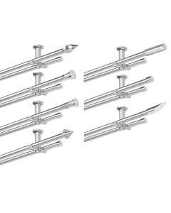 Gardinenstange Set Deckenmontage 2 läufig, 20 mm Ø